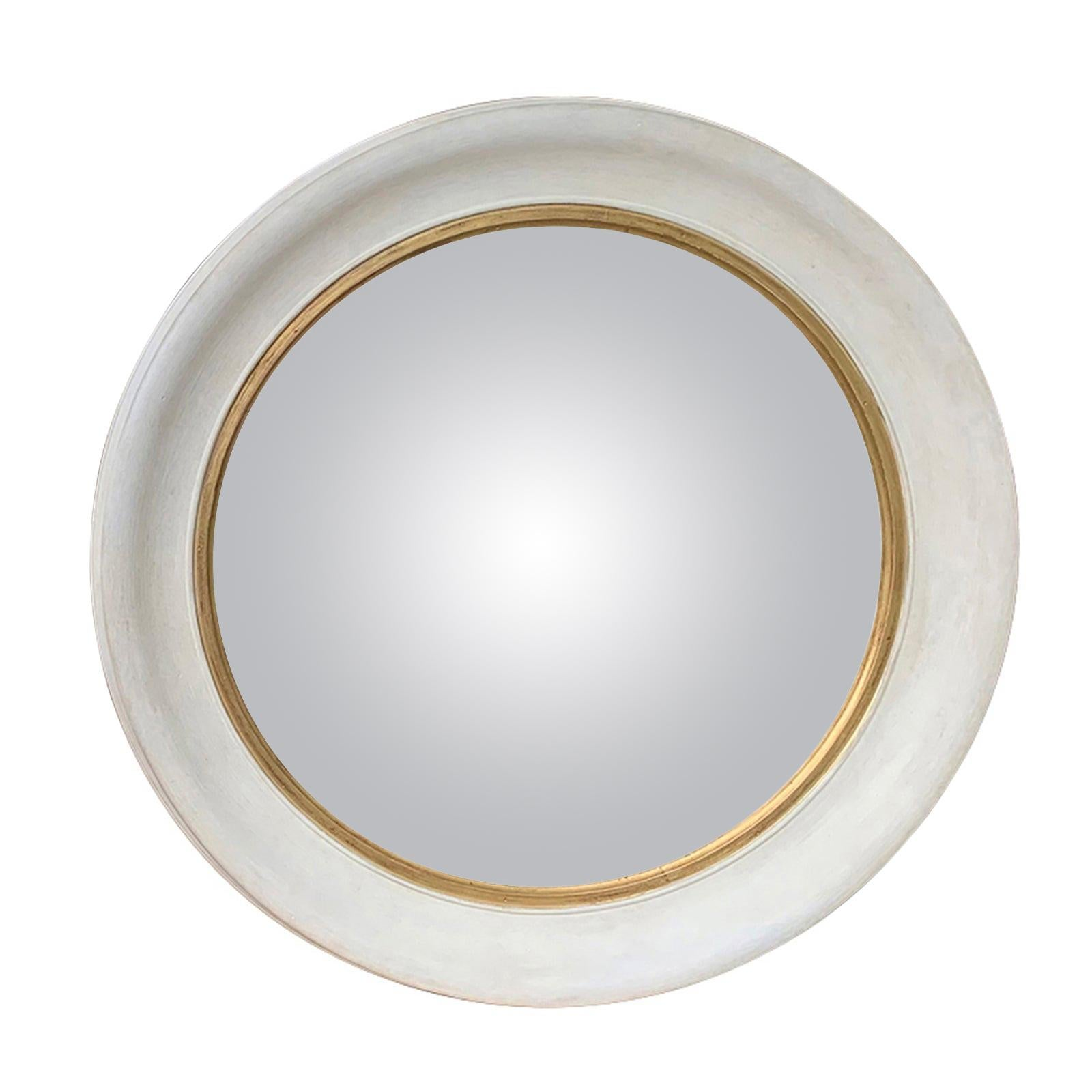 20th Century Round Convex Mirror with Custom Hand Painted Finish