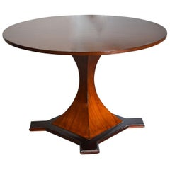 20th Century Round Dining Table in the Style of Carlo de Carli in Wood
