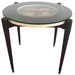 20th Century Round Side Table by Paolo Buffa