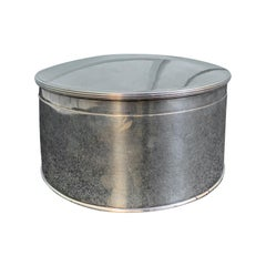 20th Century Round Silverplate Box
