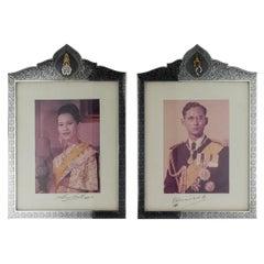 20th Century Royal Thailand Solid Silver & Niello Frames, Bangkok, circa 1969