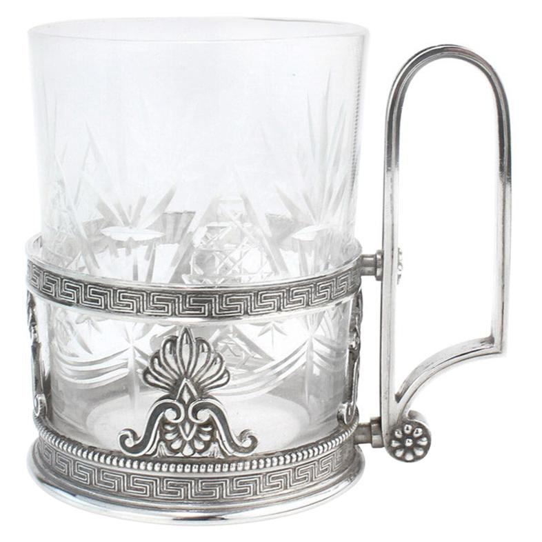 20th Century Russian Faberge Solid Silver Tea Glass Holder, Moscow, c.1900
