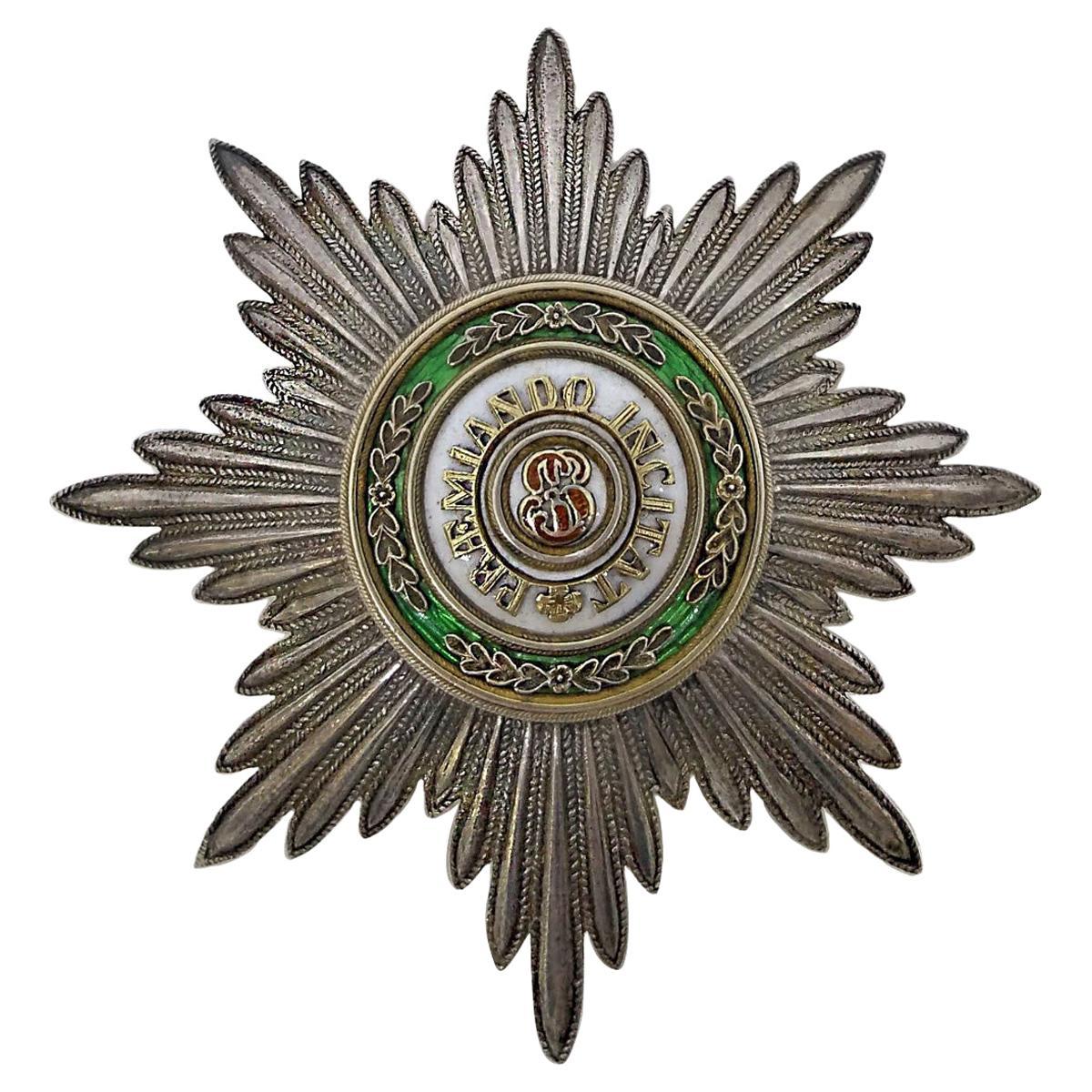 20th Century Russian Silver & Enamel St.Stanislaus Breast Star, circa 1900