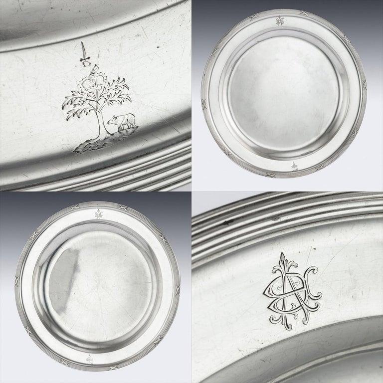 20th Century Russian Solid Silver Dinner Service, Nikolai Kemper, circa 1900 For Sale 7