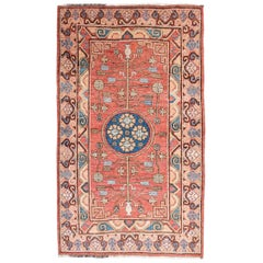 20th Century Samarkand Rug Design of Flowers and Branches, circa 1920