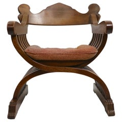 20th Century Savronarola Chair in Solid Oak
