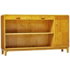 20th Century Scandinavian Modern Elm Low Bookcase