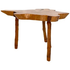 20th Century Scandinavian Tree Trunk Centre Table, Writing Desk or Dining Table