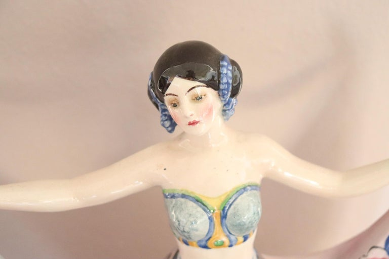 20th Century Sculpture in Polychrome Artistic Ceramics by Goldscheider, 1920 For Sale 9