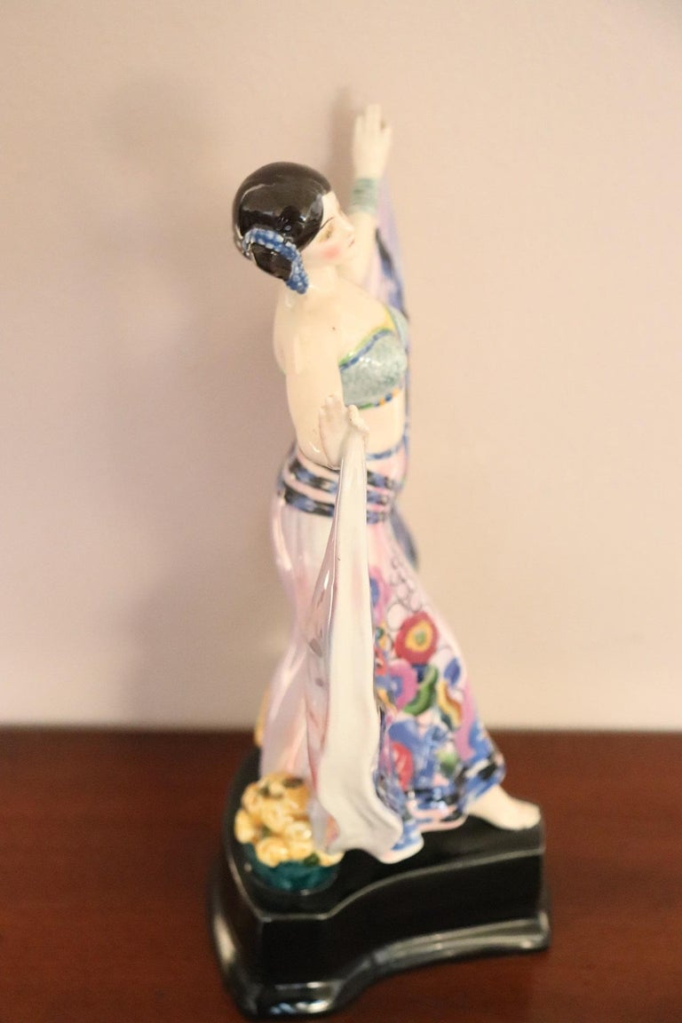Early 20th Century 20th Century Sculpture in Polychrome Artistic Ceramics by Goldscheider, 1920 For Sale
