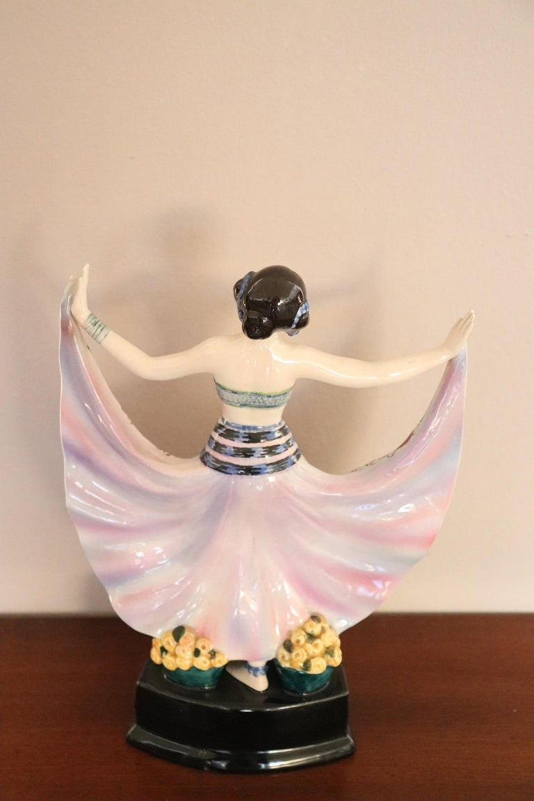 20th Century Sculpture in Polychrome Artistic Ceramics by Goldscheider, 1920 For Sale 1