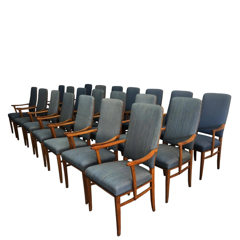 20th Century Set of 21 Carl Malmsten Chairs  For Sale