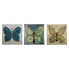 20th Century Set of 3 Authentic Ceramic Tiles Lisa Larson for Gustavson, 1970s