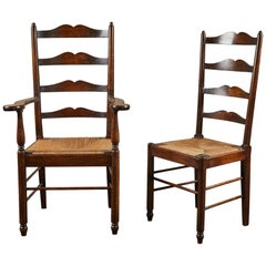 20th Century Set of 8 Arts and Crafts Dining Chairs