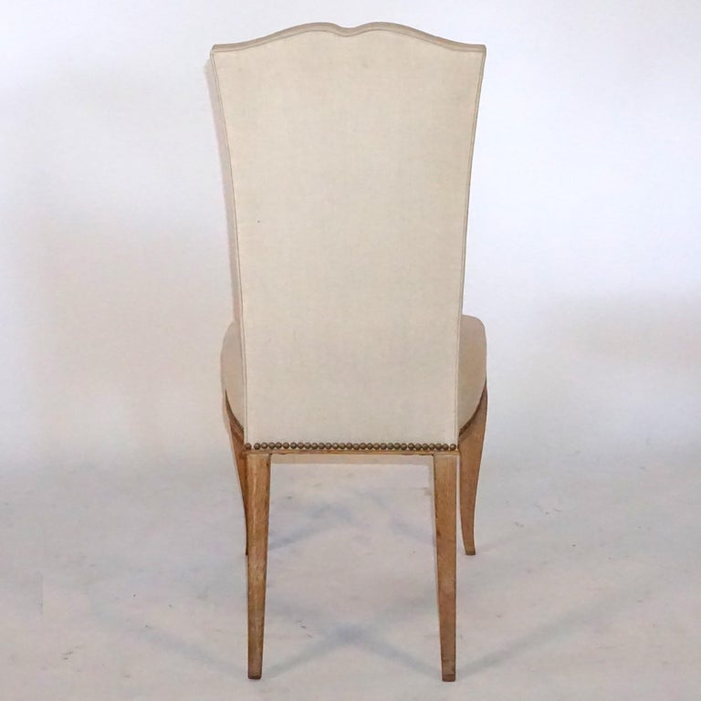 Mid-Century Modern 20th Century Set of Six French Oak Dining Chairs For Sale