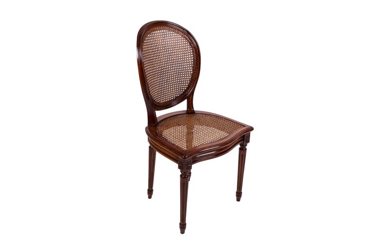 French 20th Century Set of Six Louis XVI Style Dining Chairs For Sale