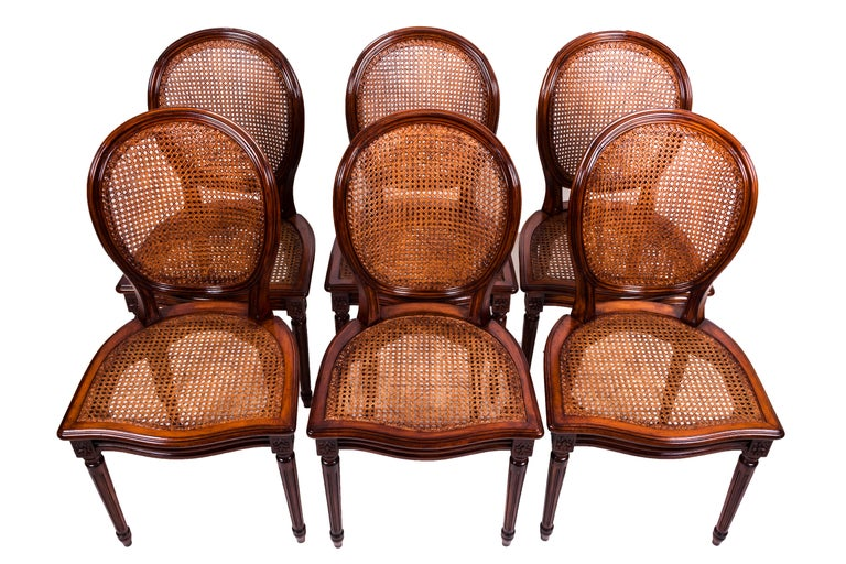 20th Century Set of Four Louis XVI Style Dining Chairs In Good Condition For Sale In Tricase, Italia