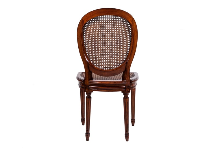 Beech 20th Century Set of Six Louis XVI Style Dining Chairs For Sale