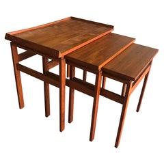 20th Century Set of Three Scandinavian Teak Tables