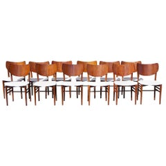 20th Century Set of Twelve Dining Chairs by Nils & Eva Koppel