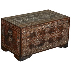 20th Century Shell Inlaid Filipino Trunk