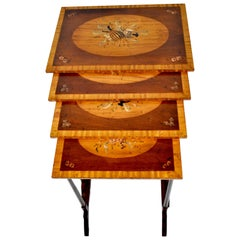 20th Century Sheraton Style Nest of Tables in Mahogany
