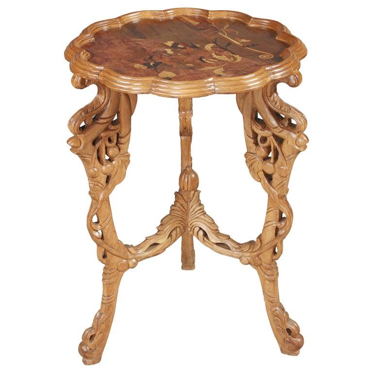 20th Century Side Table E. Gallé, Art Nouveau For Sale