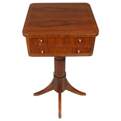 20th Century Side Table in the Biedermeier Style, Mahogany