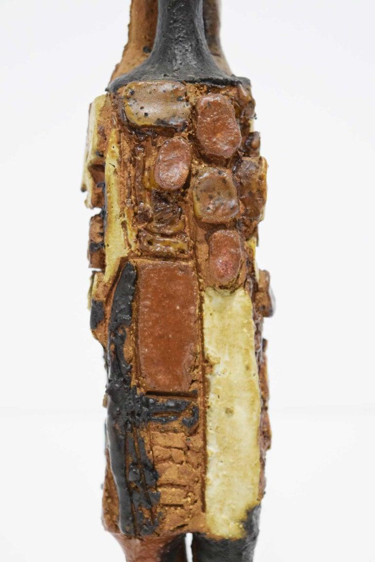 20th Century Signed Ceramic Figure Sculpture For Sale 3
