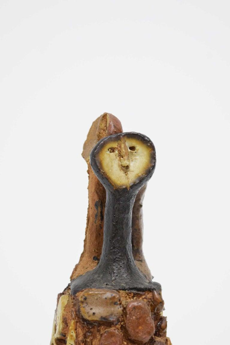 20th Century Signed Ceramic Figure Sculpture For Sale 4