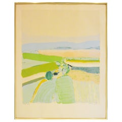 """20th Century Signed Lithograph of Landscape Entitled """"Springtime in Provence"""""""
