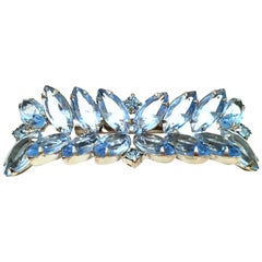 20th Century Silver & Austrian Crystal Abstract Butterfly Brooch
