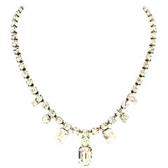 20th Century Silver & Austrian Crystal Choker Necklace By, Weiss