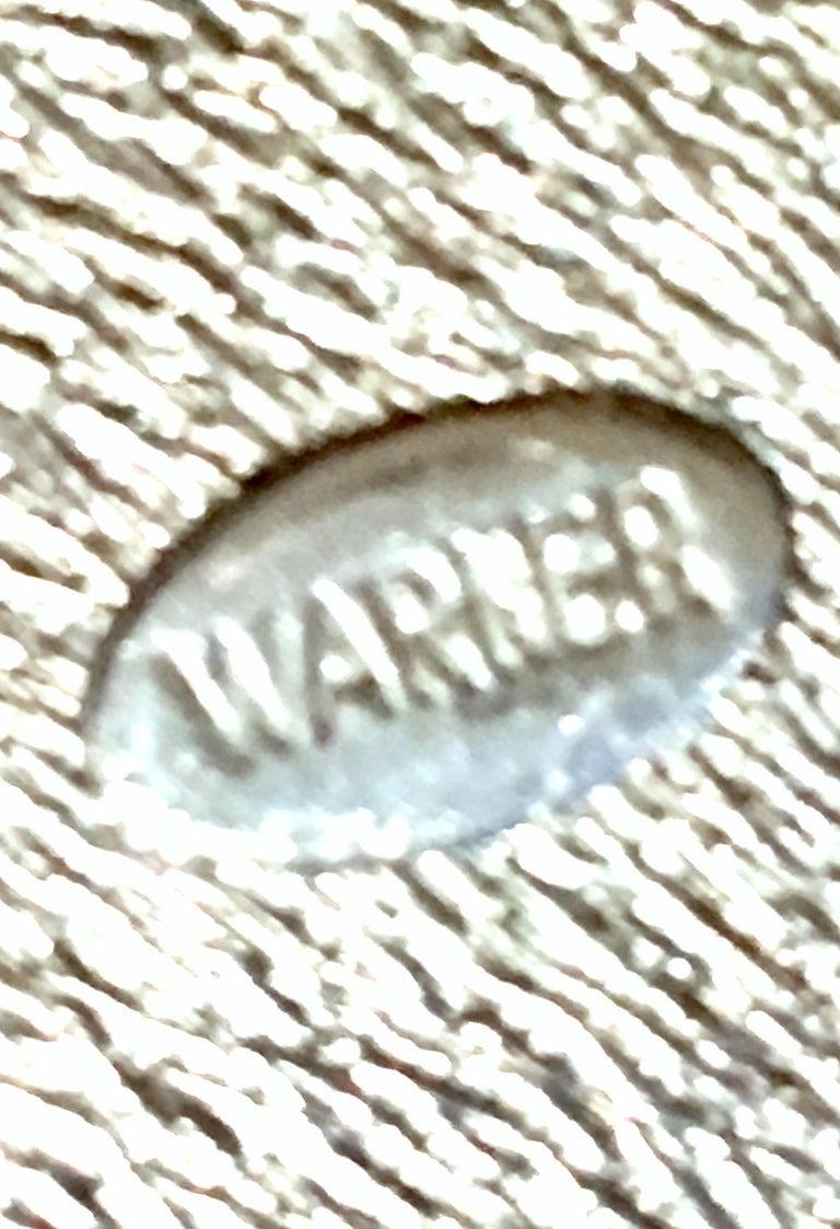 20th Century Silver & Austrian Crystal Dimensional Starburst Brooch By, Warner For Sale 5