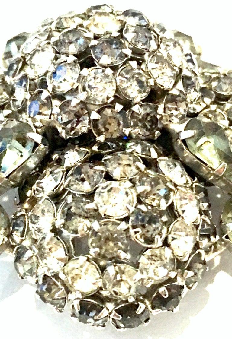20th Century Silver & Austrian Crystal Dimensional Starburst Brooch By, Warner For Sale 2