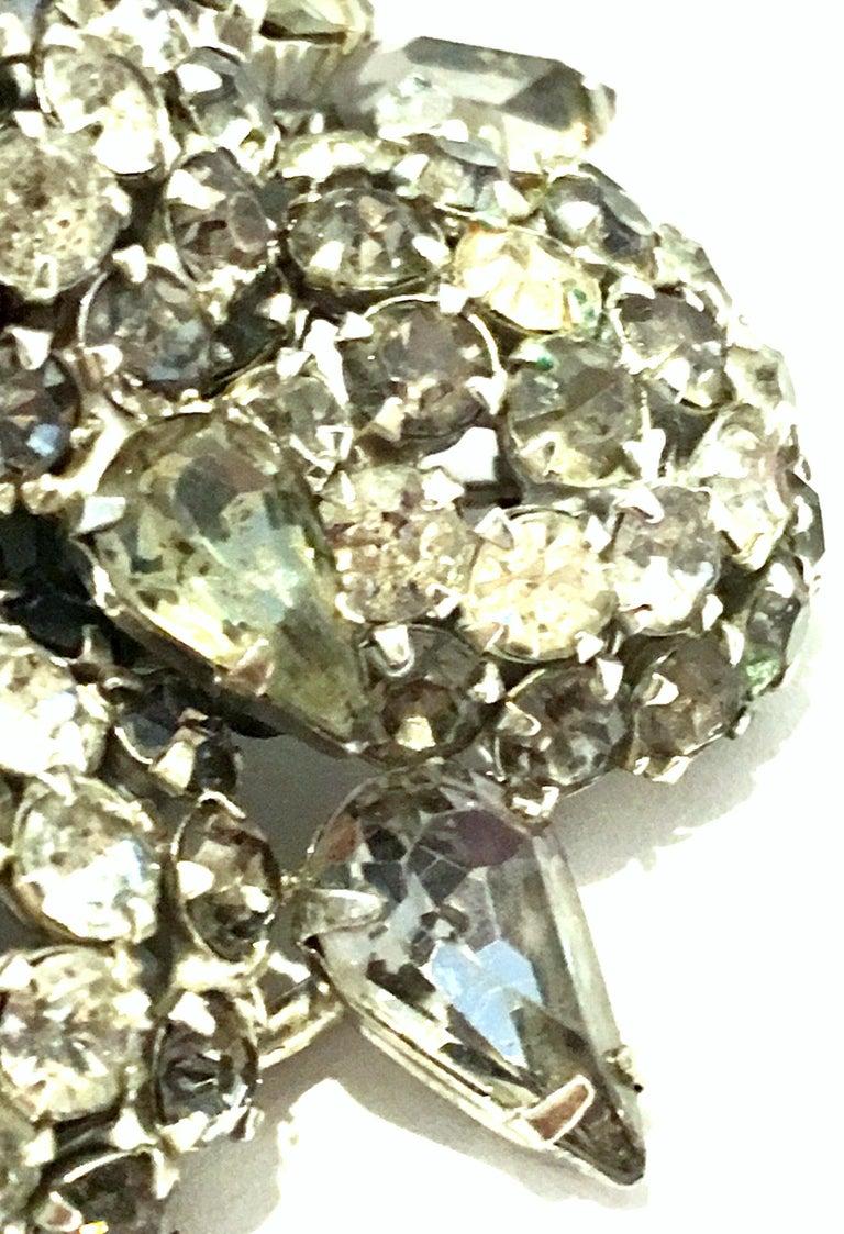 20th Century Silver & Austrian Crystal Dimensional Starburst Brooch By, Warner For Sale 3