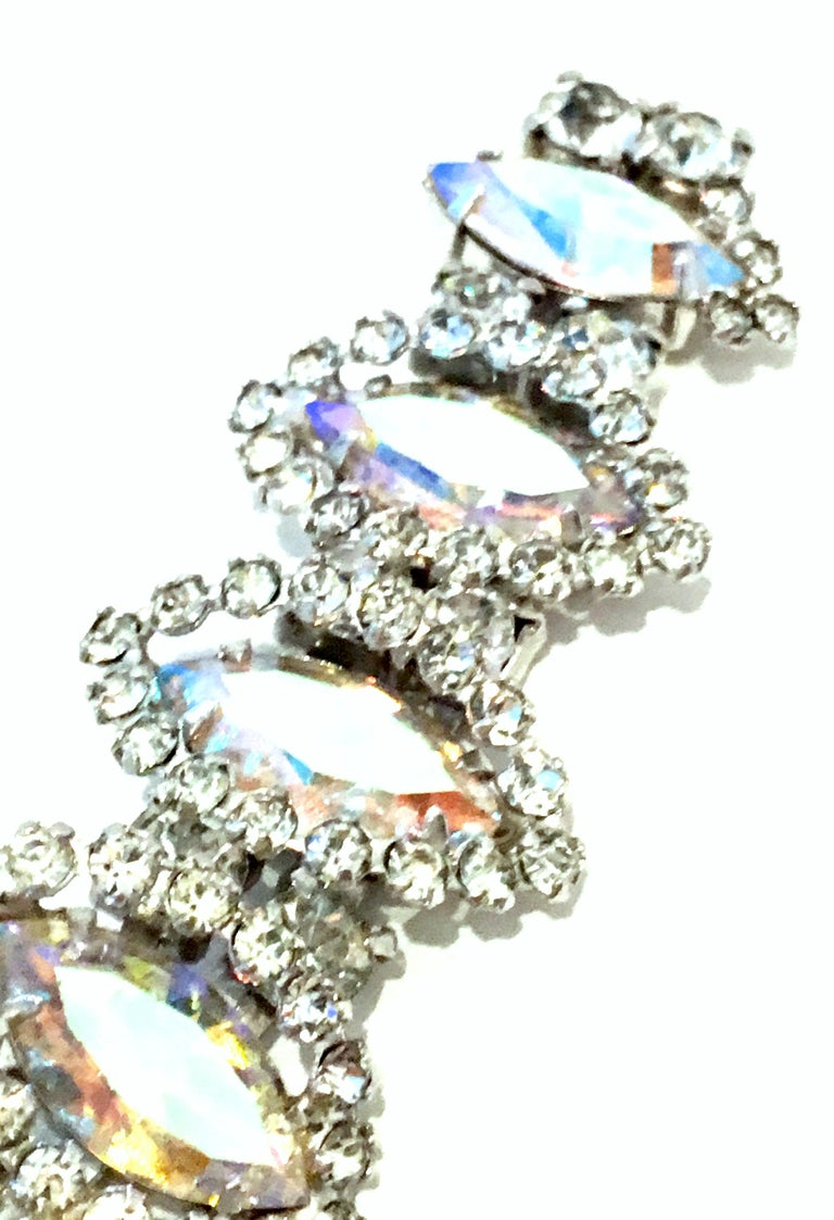 20th Century Silver & Austrian Crystal Link Bracelet By, Weiss For Sale 7