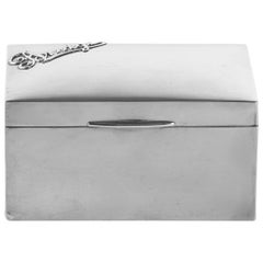 20th Century Silver Bridge Storage Box British Marks Mappin & Webb
