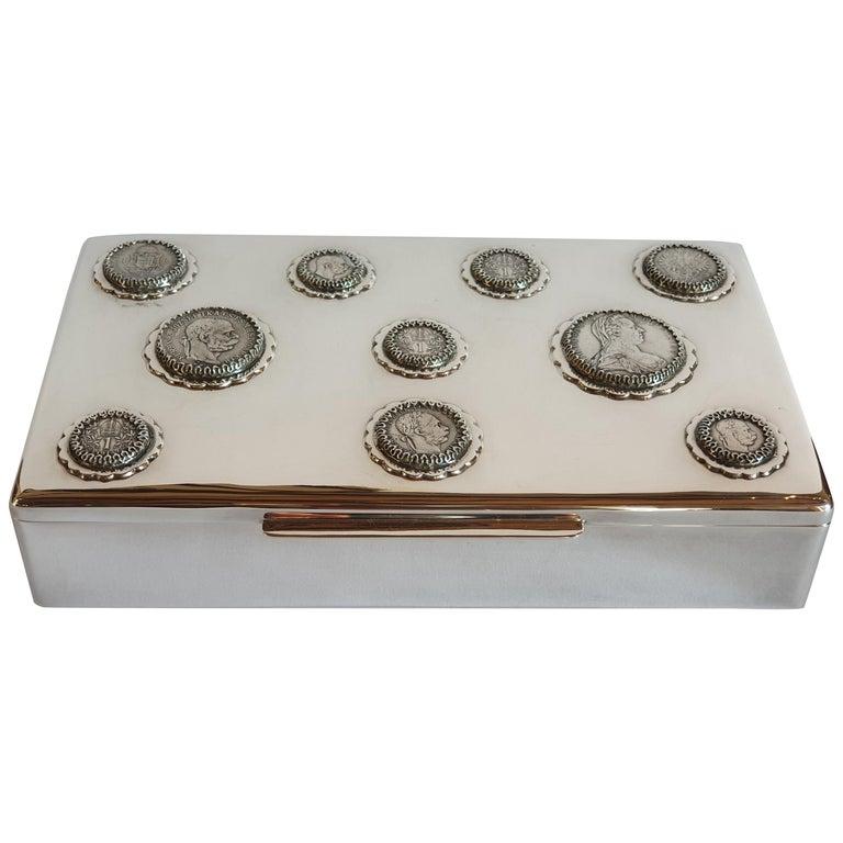 20th Century Silver Box, Hungary, circa 1980 For Sale