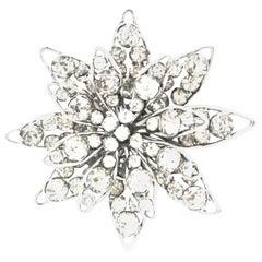 20th Century Silver & Crystal Dimensional Necklace Pendant & Brooch By, Halpern