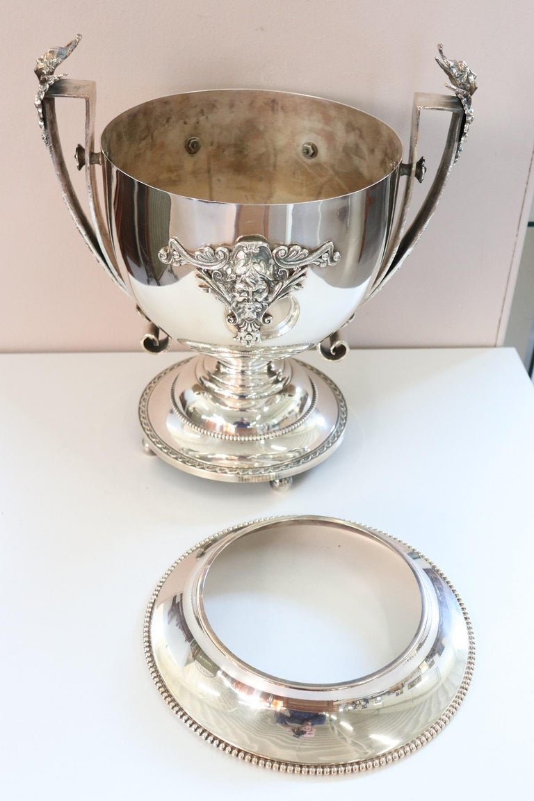 20th Century Silver Plate Champagne Bucket or Wine Cooler For Sale 2