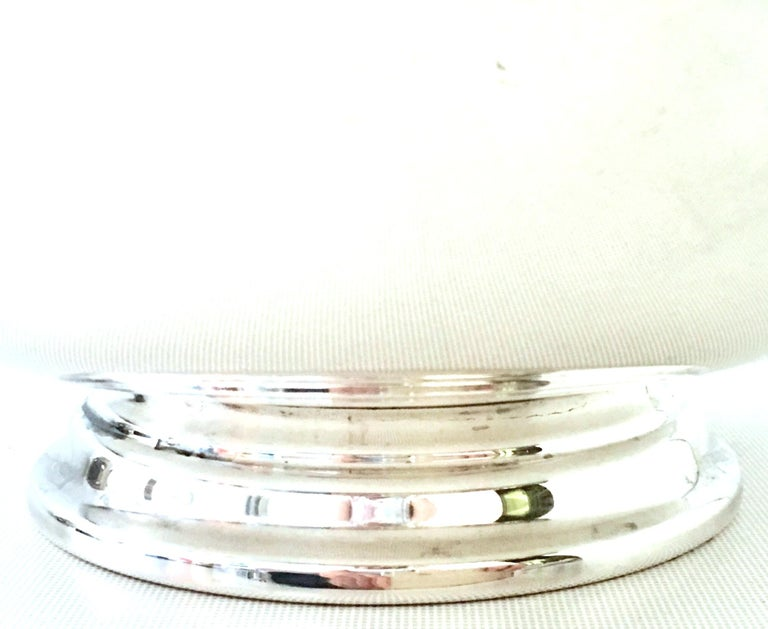 20th Century Silver Plate & Enamel Bowls by, Reed & Barton, Set of Two Pieces For Sale 3