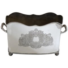 20th Century Silver Plate Letter Holder