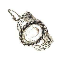 20th Century Silver & Reverse Carved Glass Cameo Bracelet