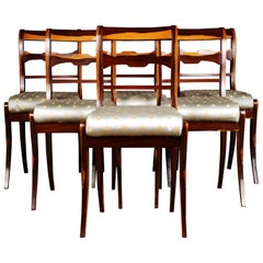 20th Century Six Chairs in the Biedermeier Style Palisander Veneer on Beechwood