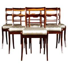 20th Century Six Chairs in the Biedermeier Style Palisander Veneer on Beechwood