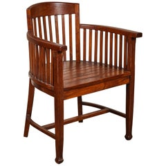 20th Century Slatted Round Back Indonesian Armchair