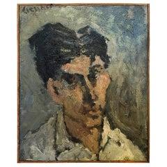 20th Century Small Self-Portrait of Daniel Clesse