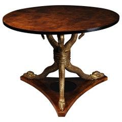 20th Century Snake Table Design After K. F. Schinkel Empire Manner
