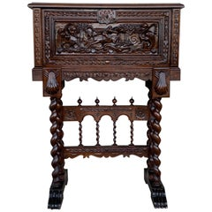 20th Century Spanish Baroque Style Cabinet on Stand, Bargueno or Varqueno